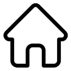 an animated image of house in black colour