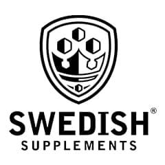 Swedish Supplements Official Logo, in black on White Background