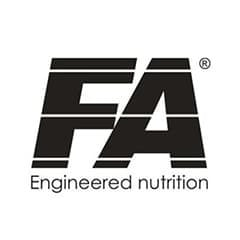 FA Engineered Nutrition Official Logo in black color on White Background