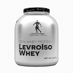 Vector image with the LevrolsoWhey from the Levrone Signature Series