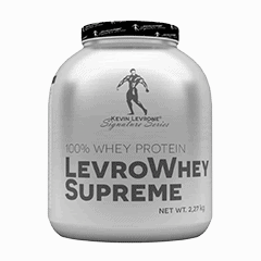Vector image with the LevroWhey from the Levrone Signature Series