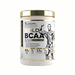 Vector image with the Levrone Gold BCAA from the Levrone Gold Series