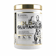 Vector image with the Levrone Gold Glutamine from the Levrone Gold Line