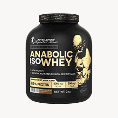 Vector image with the Anabolic ISO Whey from the Levrone Black Line