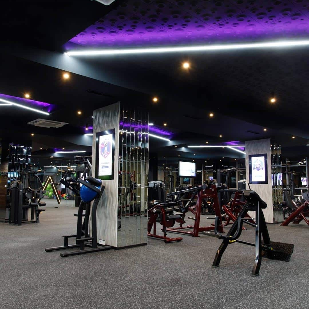 An image of the Pulse Fitness Center, with its gym equipment.