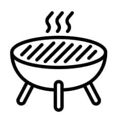 an animated image of grill in black colour