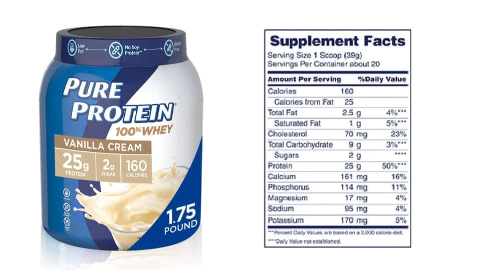Whey Protein Powder by Pure Protein