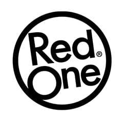 Red One Logo in black colour.