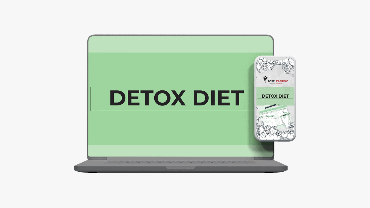 Detox Diet running on both laptop and mobile device